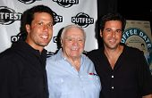 HOLLYWOOD - JULY 10: Jonathan Bray with Ernest Borgnine and Jonathan Silverman at the Premiere of