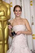 Jennifer Lawrence at the 85th Annual Academy Awards Press Room, Dolby Theater, Hollywood, CA 02-24-1
