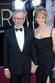 Steven Spielberg, Kate Capshaw at the 85th Annual Academy Awards Arrivals, Dolby Theater, Hollywood,