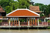Houses By The River In Thailand