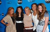 PASADENA, CA - JULY 19: Adrienne Bailon, Brenda Song, Sabrina Bryan, Kiely Williams and Miley Cyrus at the Disney ABC Television All Star Party, July 19, 2006, Kidspace Children's Museum in Pasadena.