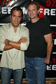 HOLLYWOOD - AUGUST 01: Leo Quinones and Michael Biehn at 97.1 Free FM's Film Freak Screening of The