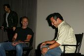 HOLLYWOOD - AUGUST 01: Michael Biehn and Leo Quinones at 97.1 Free FM's Film Freak Screening of The