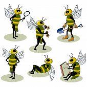 Set van vector bijen