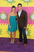 Danica Patrick, Ricky Stenhouse Jr. at Nickelodeon's 26th Annual Kids' Choice Awards, USC Galen Cent