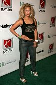 HOLLYWOOD - AUGUST 02: Blu Cantrell wearing Clothing by Antik Denim at Saturn's X-Games 12 Party at
