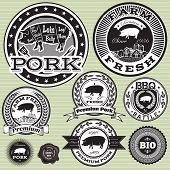 Vector Set Of Labels With Pig And Pork