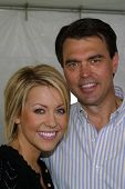 WOODLAND HILLS - APRIL 30: Farah Fath and Rich Fields at the Nuts For Mutts Dog Show at Pierce Colle