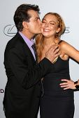 Charlie Sheen, Lindsay Lohan at the