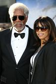 Morgan Freeman and daughter Morgana Freeman at the