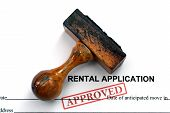 stock photo of rental agreement  - Close up of Rental application  - JPG