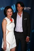 Lana Parilla and guest at the 24th Annual GLAAD Media Awards, JW Marriott, Los Angeles, CA 04-20-13