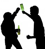 Drunken Men Fighting