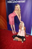Lulu Johnson and Betsey Johnson at the 2013 NBC Universal Summer Press Day , Langham Huntington Hote