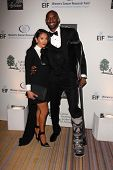 Vanessa Laine Bryant and Kobe Bryant with broken leg at An Unforgettable Evening Presented by Saks Fifth Avenue, Beverly Wilshire Hotel, Beverly Hills, CA 05-02-13
