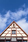 image of gable-roof  - Gable roof of traditional German half - JPG