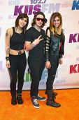 Yasmine Yousaf, Rain Man, Jahan Yousaf at the 2013 Wango Tango concert produced by KIIS-FM, Home Dep