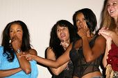 Golden Brooks, Persia White and Jill Jones  at benefit hosted by the cast of
