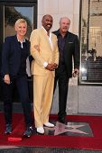 Ellen Degeneres, Steve Harvey and Phil McGraw at the Steve Harvey Star on the Hollywood Walk of Fame, Hollywood, CA 05-13-13