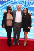 Stella Arroyave, Anthony Hopkins and niece at the American Idol Season 12 Finale Arrivals, Nokia The