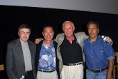 Walter Koenig, George Takei, A.C. Lyles and Nicholas Meyer at a screening of Star Trek II: The Wrath