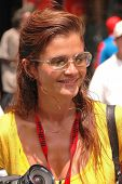 Helena Christensen at the Bullrun Rally 2004 in Hollywood, California. 06-05-04