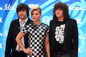 Neil Perry, Kimberly Perry, Reid Perry at the American Idol Season 12 Finale Arrivals, Nokia Theater
