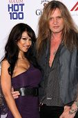 Sebastian Bach and guest at the 2013 Maxim Hot 100 Party, Vanguard, Hollywood, CA 05-15-13