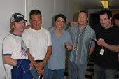 David Spade, Nick Di Paolo, Gary Dell'Abate, Sam Simon and Craig Gass at the FM Talk Brew Ha Ha comedy show in Agoura Hills, CA 06-12-04