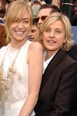 HOLLYWOOD - APRIL 28: Portia de Rossi and Ellen DeGeneres at The 33rd Annual Daytime Emmy Awards at