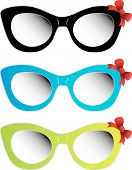 Colorful cat eye sunglass