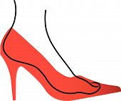 Foot In A Red Shoe Diagram