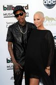 Wiz Khalifa and Amber Rose at the 2013 Billboard Music Awards Arrivals, MGM Grand, Las Vegas, NV 05-