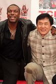 Chris Tucker and Jackie Chan at the Jackie Chan Hand and Foot Print Ceremony, TCL Chinese Theater, H