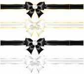picture of ribbon bow  - Vector illustration  - JPG