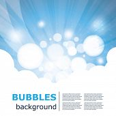 Abstract Colorful Background With Bubbles - Creative Design Illustration in Editable Vector Format