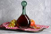 Beautiful still life with bottle of wine