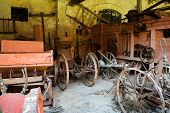Ancient farm tools, machinery and equipment