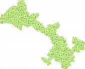 Isolated map of Gansu - China -
