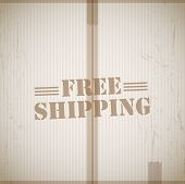 Free shipping vector background