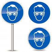 Vector Safety Glasses Sign