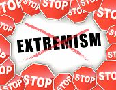 picture of extremist  - Vector illustration of stop extremism concept background - JPG