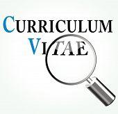 Vector Curriculum Vitae Concept