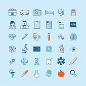 picture of ophthalmology  - Flat design vector icons for medicine - JPG