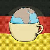 Cup With Globe And German Flag