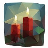 Candles lowpoly illustration
