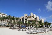 : The Ritz-Carlton Grand Cayman luxury resort located on the Seven Miles Beach