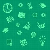 Vector education background green. Pattern