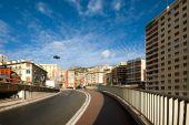 picture of gare  - A road leading to the Gare de Monaco  - JPG