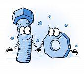 Bolt And Nut Cartoon - Belong Together